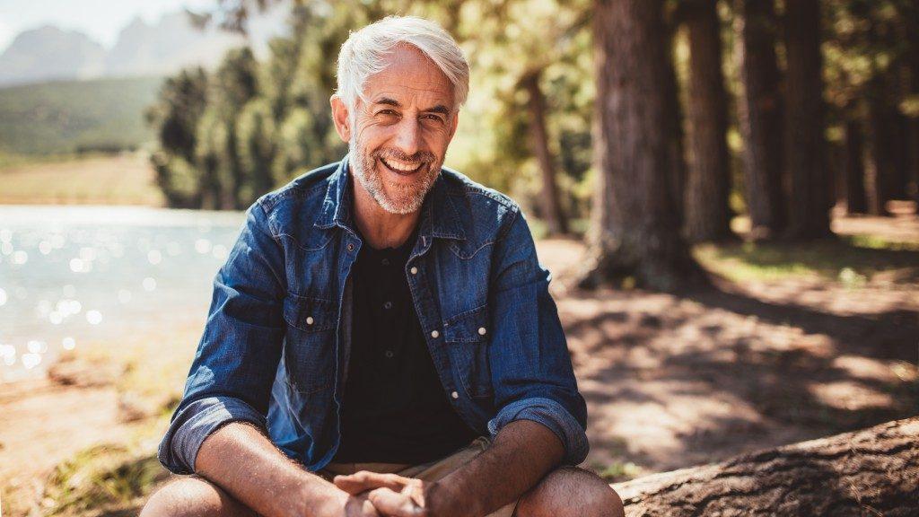 Man smiling at the camera
