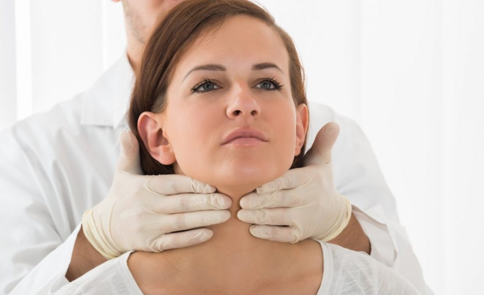 Woman with Hashimoto's thyroiditis