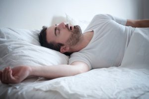 Man snoring too loud
