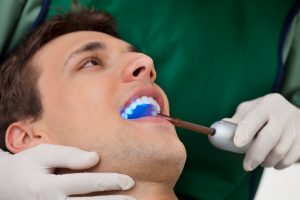 Patient having dental checkup