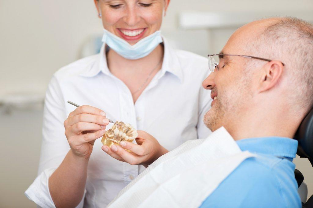 man having dental implants