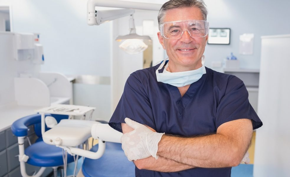 dentist at the clinic