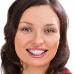 woman with clear braces