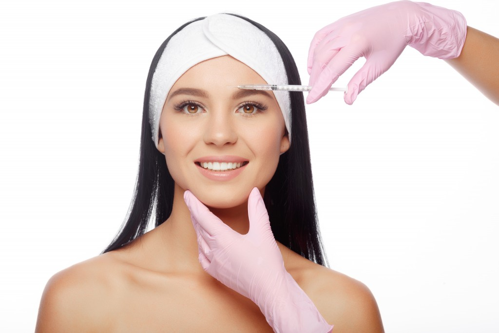 woman getting aesthetic procedure