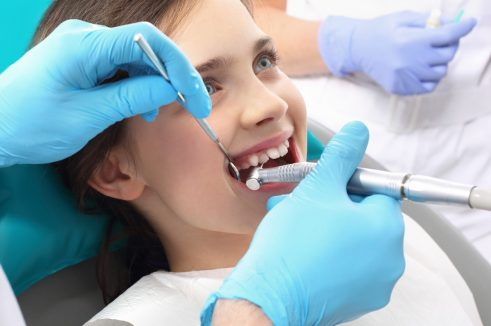 girl at the dentist's